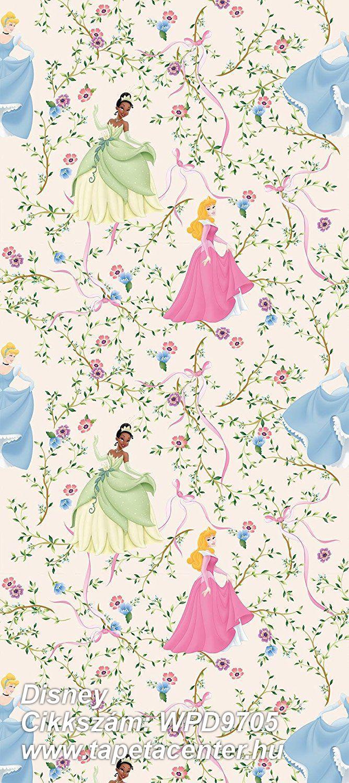 Gyerek,virágmintás,kék,pink-rózsaszín,sárga,vajszín,gyengén mosható,vlies tapéta