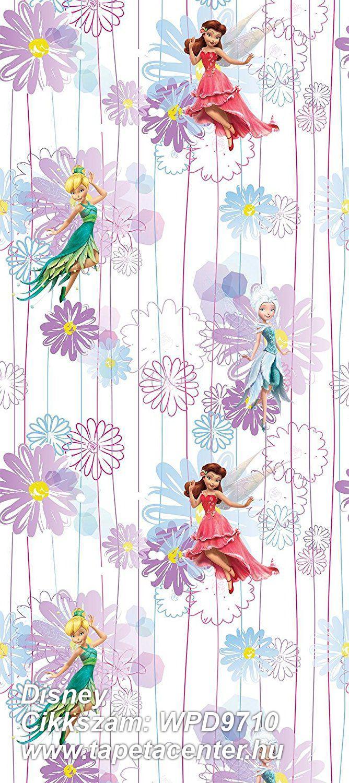 Csíkos,gyerek,virágmintás,barna,kék,lila,pink-rózsaszín,sárga,zöld,gyengén mosható,vlies tapéta