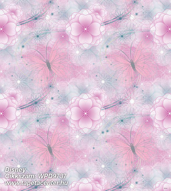 állatok,virágmintás,fehér,lila,pink-rózsaszín,szürke,gyengén mosható,vlies tapéta