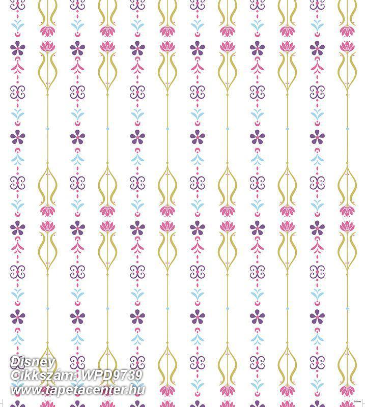 Gyerek,virágmintás,pink-rózsaszín,piros-bordó,sárga,zöld,gyengén mosható,vlies tapéta