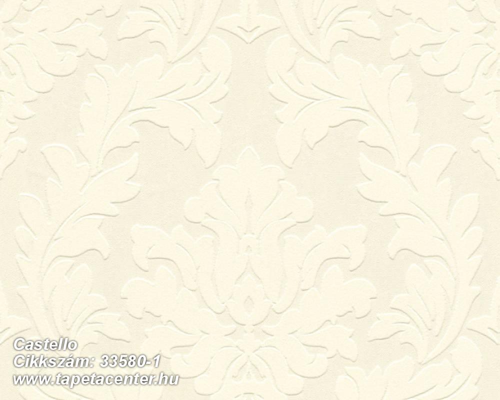 Barokk-klasszikus,különleges felületű,különleges motívumos,metál-fényes,plüss felületű,velúr felületű,bézs-drapp,vajszín,vlies tapéta
