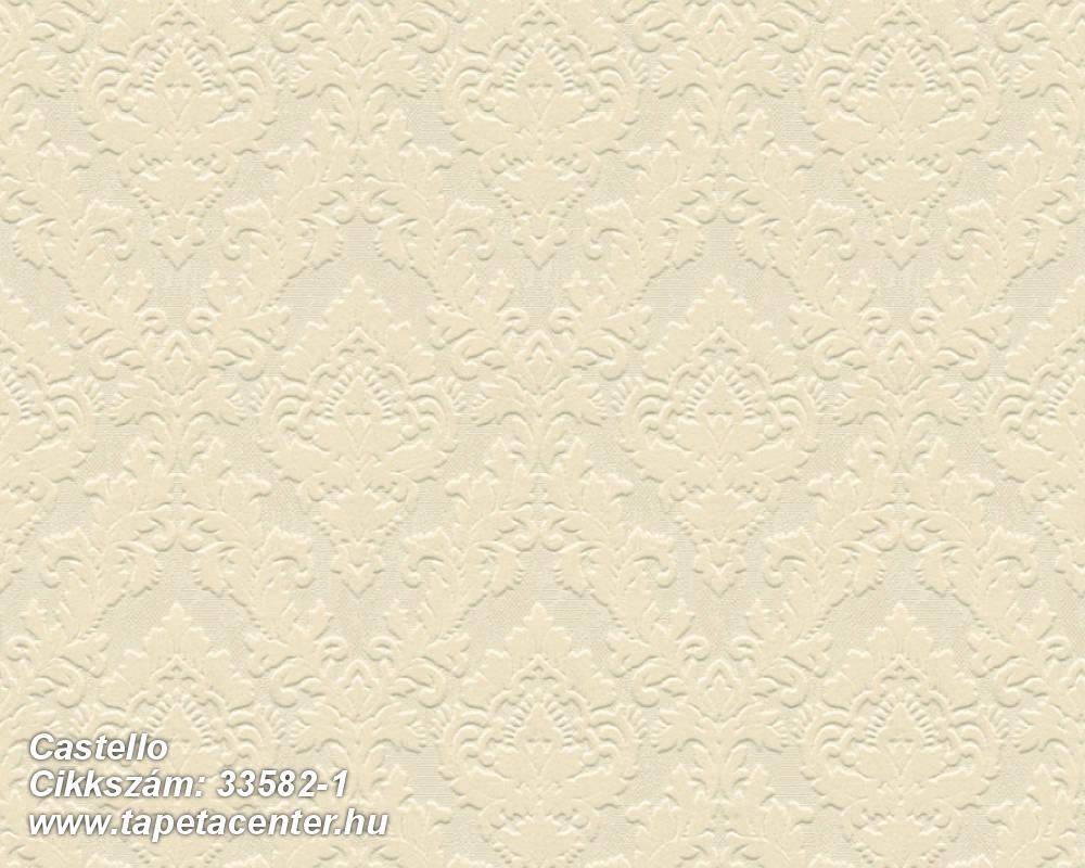 Barokk-klasszikus,különleges felületű,különleges motívumos,plüss felületű,velúr felületű,bézs-drapp,vajszín,vlies tapéta
