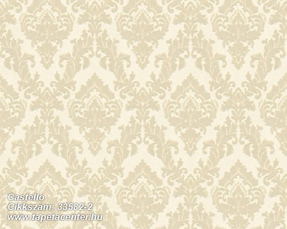Barokk-klasszikus,különleges felületű,plüss felületű,velúr felületű,bézs-drapp,vajszín,vlies tapéta