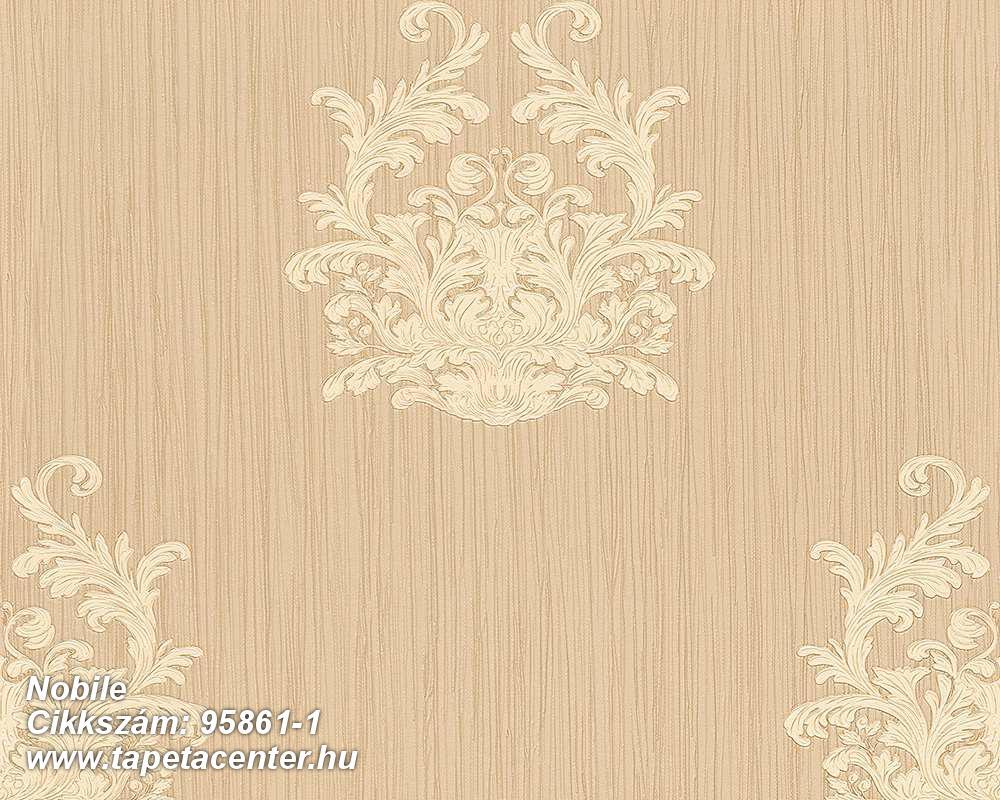 Barokk-klasszikus,csíkos,különleges felületű,különleges motívumos,textilmintás,bézs-drapp,vajszín,súrolható,vlies tapéta