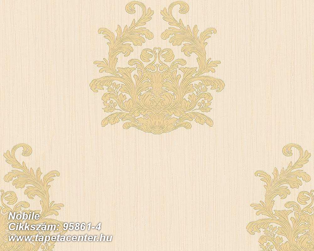 Barokk-klasszikus,különleges felületű,különleges motívumos,textilmintás,bézs-drapp,sárga,súrolható,vlies tapéta