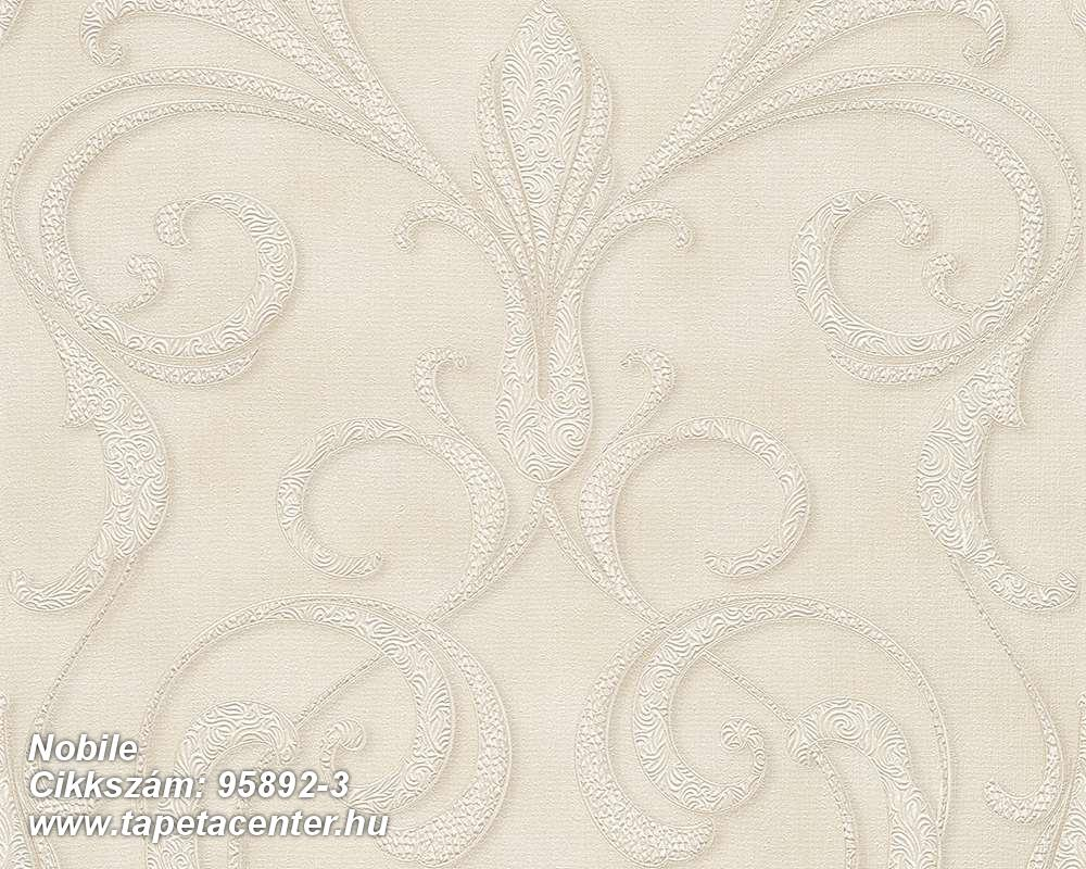 Barokk-klasszikus,különleges motívumos,bézs-drapp,vajszín,súrolható,vlies tapéta