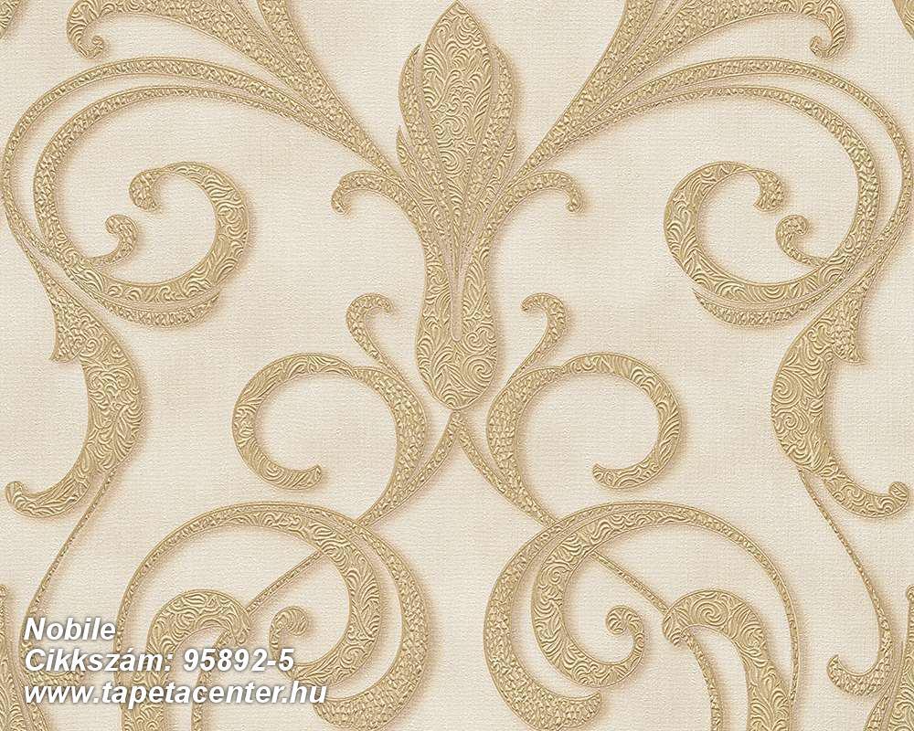 Barokk-klasszikus,különleges felületű,különleges motívumos,arany,barna,bézs-drapp,vajszín,súrolható,vlies tapéta