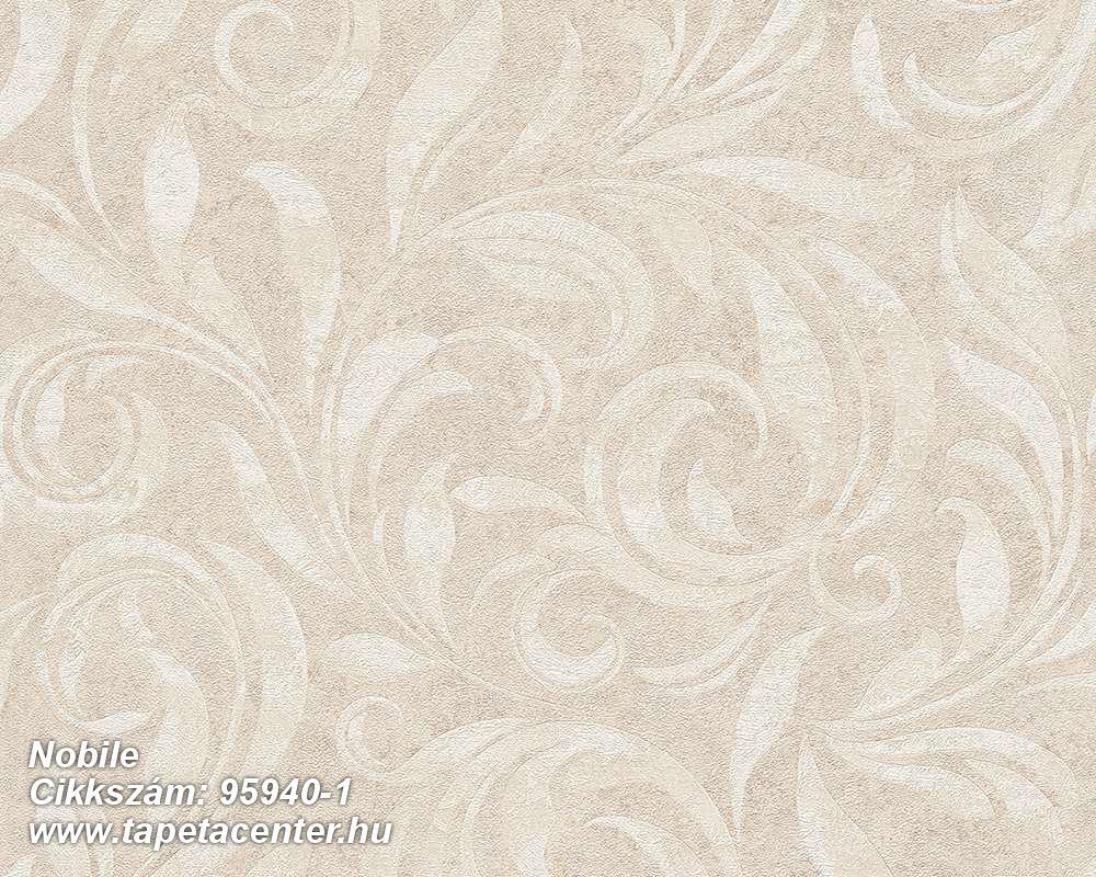 Barokk-klasszikus,különleges felületű,különleges motívumos,bézs-drapp,vajszín,súrolható,vlies tapéta