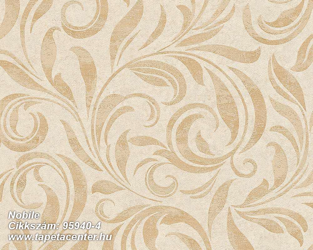 Barokk-klasszikus,különleges felületű,természeti mintás,bézs-drapp,vajszín,vlies tapéta