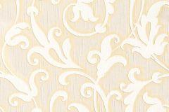 Különleges motívumos,természeti mintás,valódi textil,virágmintás,fehér,narancs-terrakotta,gyengén mosható,vlies tapéta