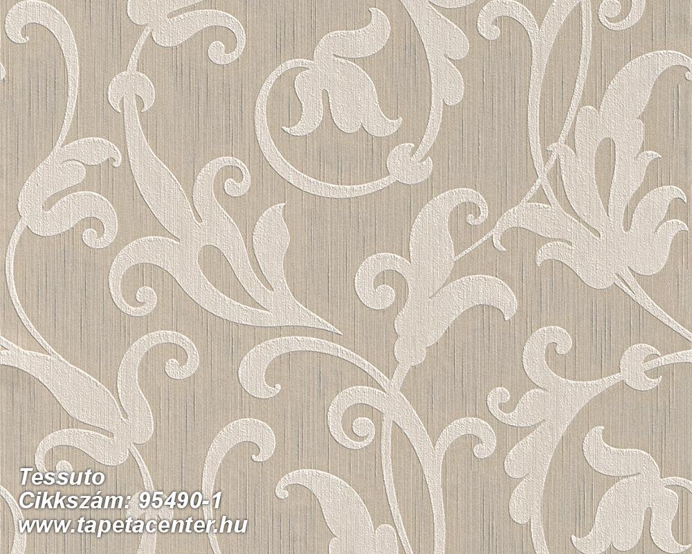 Különleges motívumos,természeti mintás,valódi textil,virágmintás,bézs-drapp,gyengén mosható,vlies tapéta