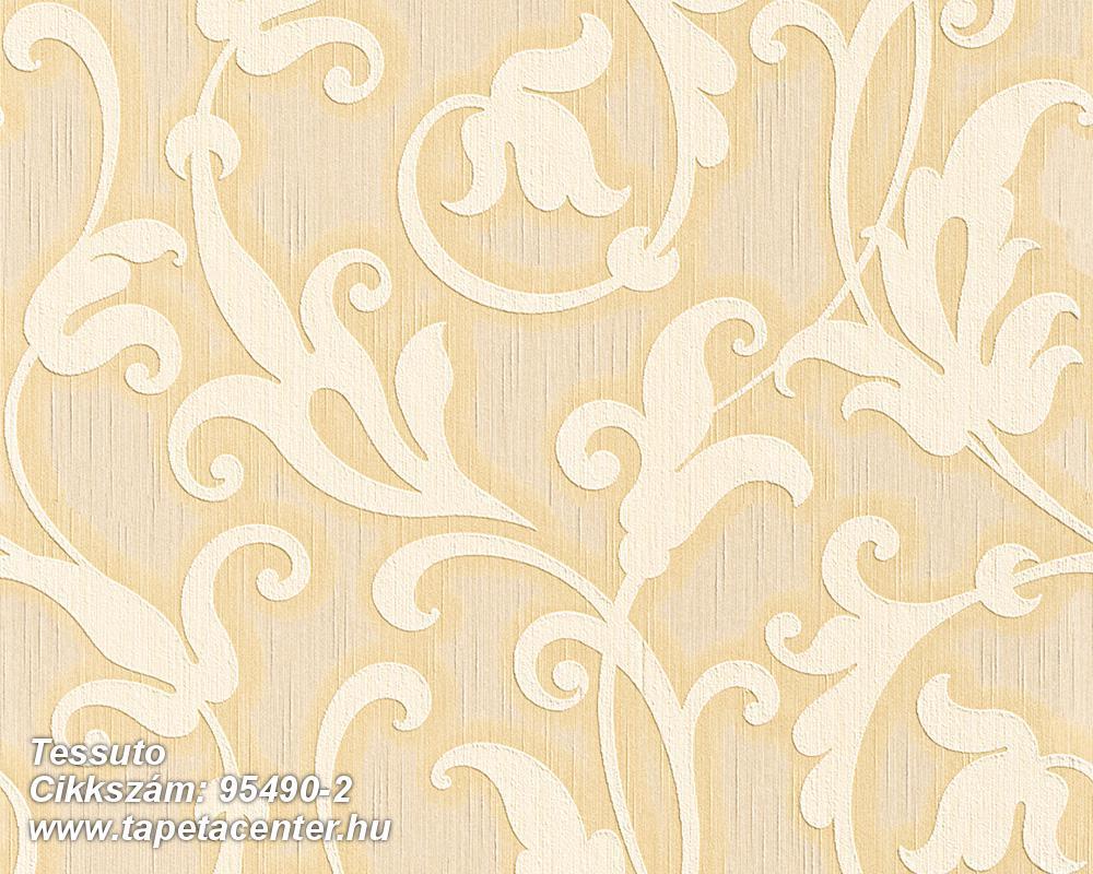 Különleges motívumos,természeti mintás,valódi textil,virágmintás,bézs-drapp,vajszín,gyengén mosható,vlies tapéta