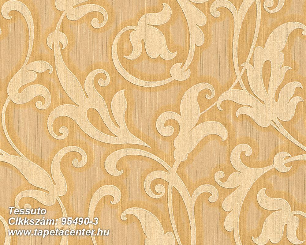 Különleges motívumos,természeti mintás,valódi textil,virágmintás,bézs-drapp,bronz,vajszín,gyengén mosható,vlies tapéta