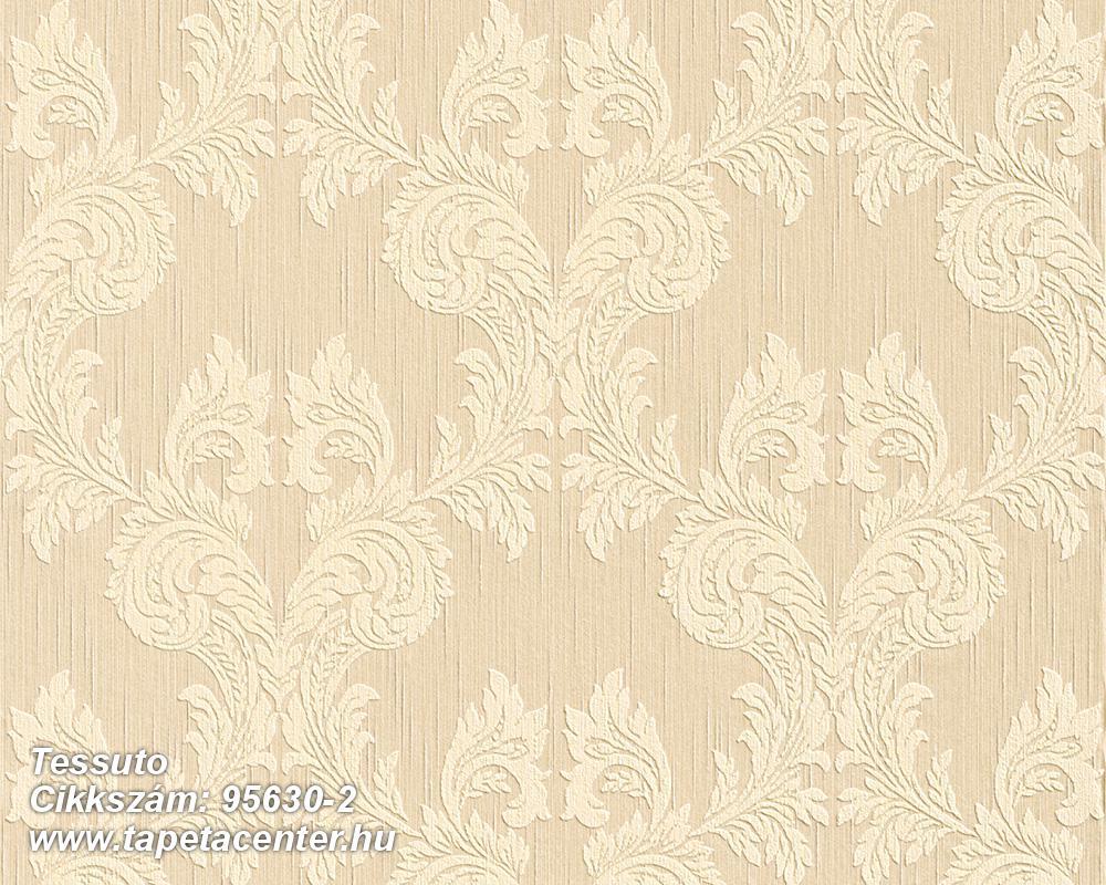 Különleges motívumos,természeti mintás,valódi textil,virágmintás,barna,bézs-drapp,vajszín,gyengén mosható,vlies tapéta