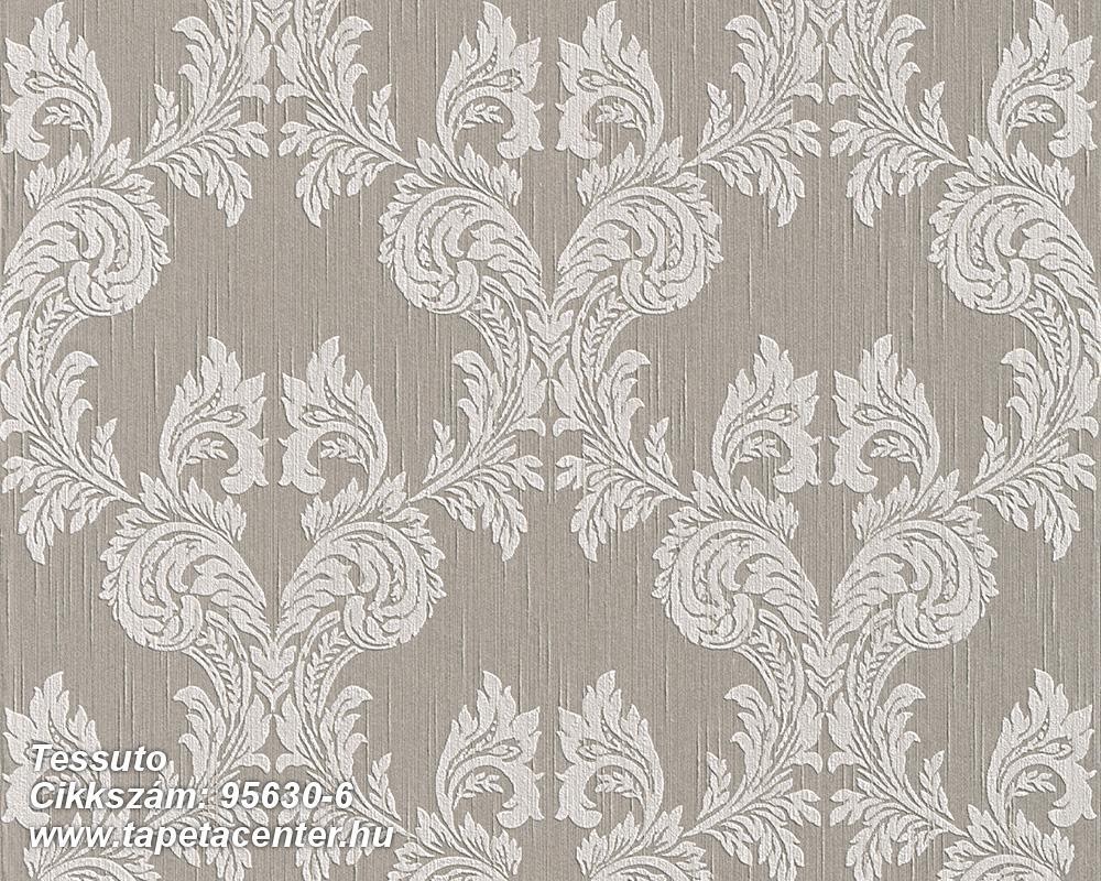 Különleges motívumos,természeti mintás,valódi textil,virágmintás,barna,fehér,gyengén mosható,vlies tapéta