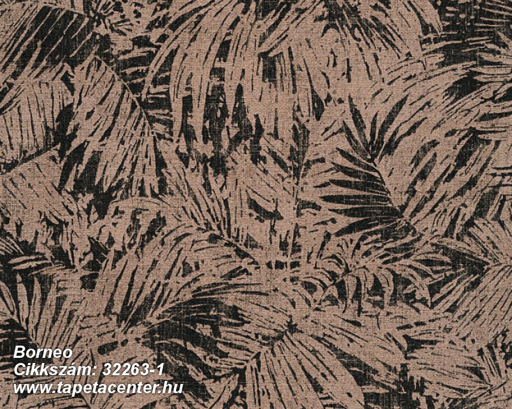 Különleges felületű,metál-fényes,természeti mintás,barna,bézs-drapp,súrolható,vlies tapéta