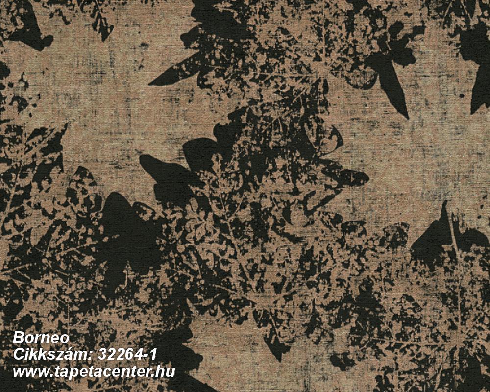 Metál-fényes,természeti mintás,barna,szürke,súrolható,vlies tapéta