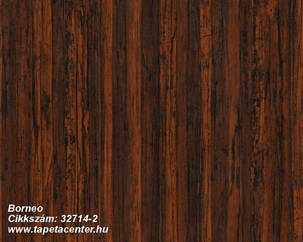 Fa hatású-fa mintás,természeti mintás,barna,fekete,narancs-terrakotta,súrolható,illesztés mentes,vlies tapéta
