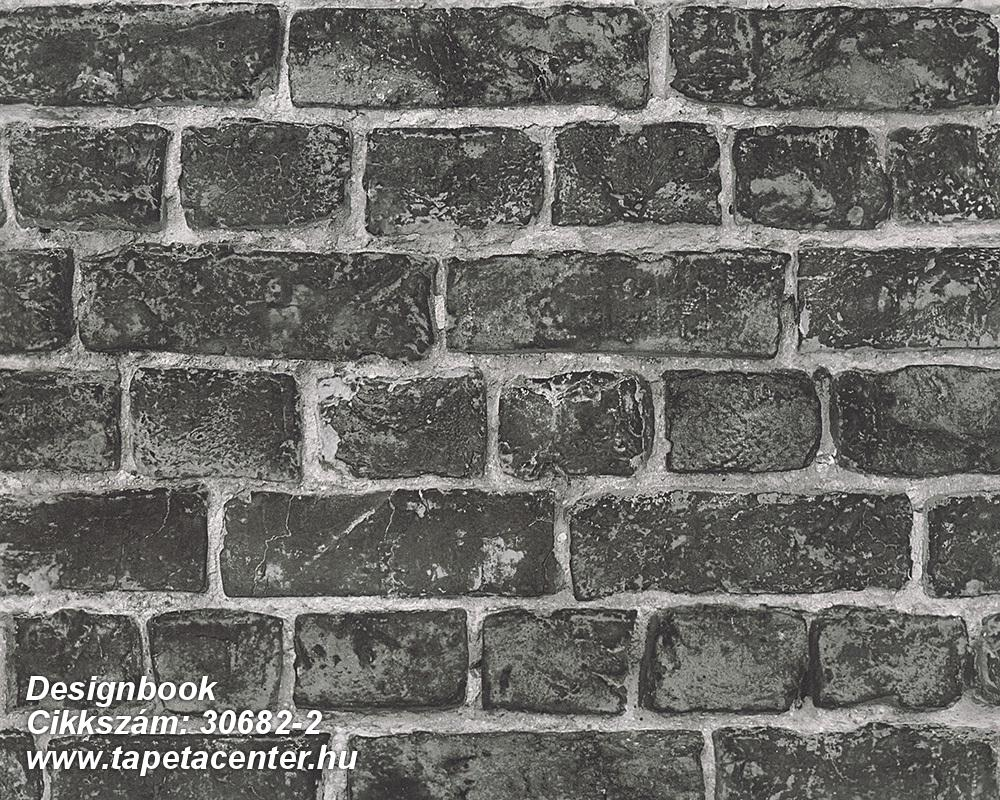 Fotórealisztikus,kőhatású-kőmintás,különleges felületű,retro,fehér,fekete,szürke,zöld,súrolható,vlies tapéta
