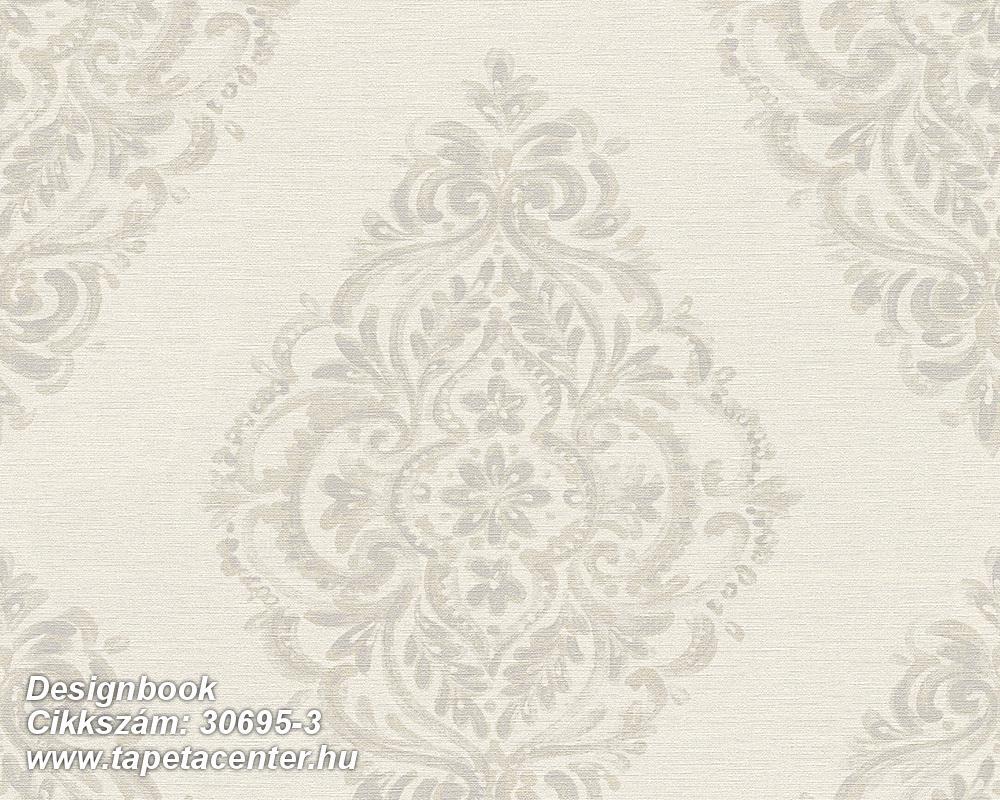 Barokk-klasszikus,különleges felületű,különleges motívumos,bézs-drapp,szürke,vajszín,súrolható,vlies tapéta