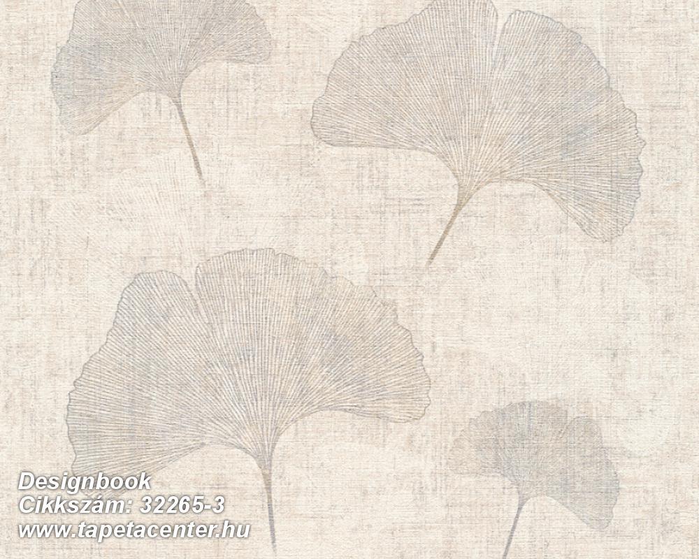 Retro,természeti mintás,bézs-drapp,ezüst,fehér,súrolható,illesztés mentes,vlies tapéta