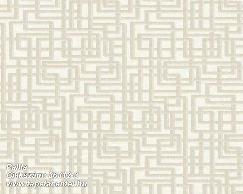 Absztrakt,textilmintás,bézs-drapp,szürke,súrolható,vlies tapéta