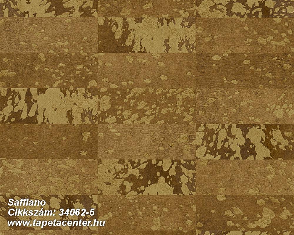 Absztrakt,geometriai mintás,különleges felületű,retro,arany,barna,sárga,zöld,súrolható,vlies tapéta