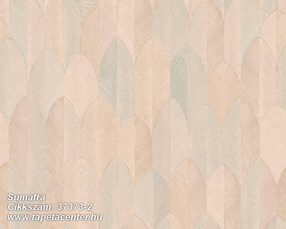 Geometriai mintás,természeti mintás,bézs-drapp,narancs-terrakotta,súrolható,vlies tapéta