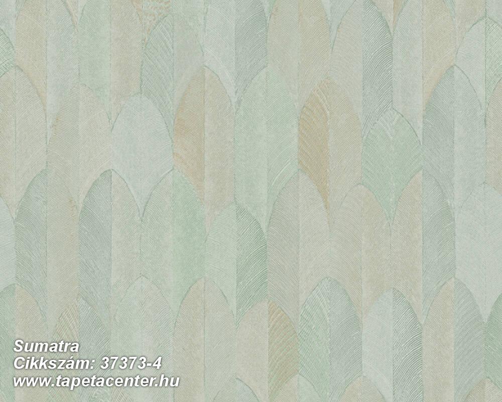 Geometriai mintás,természeti mintás,barna,kék,zöld,súrolható,vlies tapéta