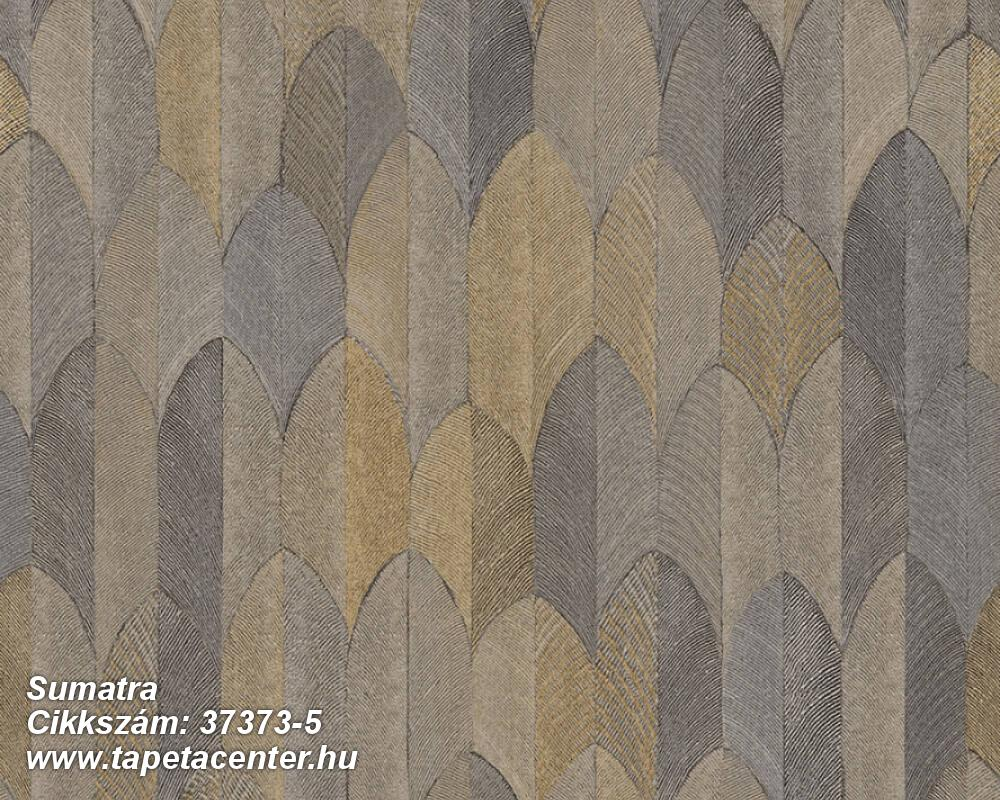 Geometriai mintás,természeti mintás,barna,bézs-drapp,bronz,súrolható,vlies tapéta