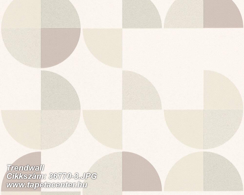 Geometriai mintás,fehér,szürke,zöld,súrolható,vlies tapéta