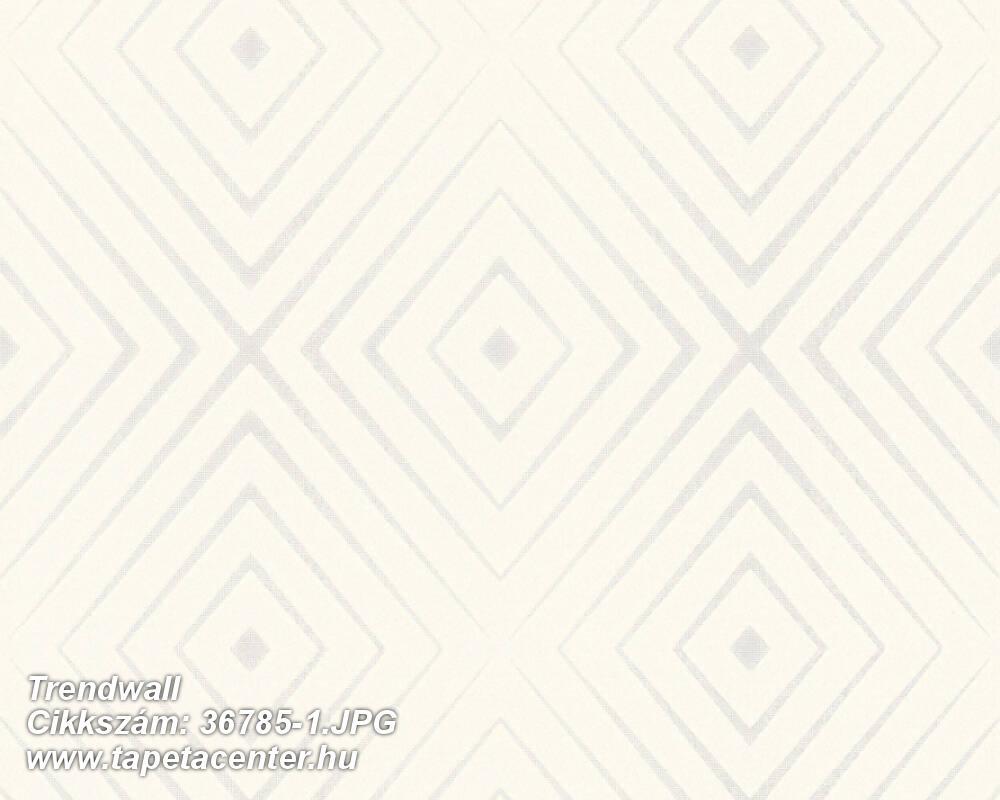 3d hatású,geometriai mintás,ezüst,fehér,súrolható,vlies tapéta