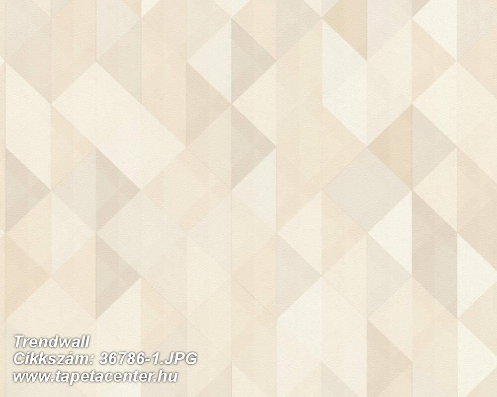 Absztrakt,geometriai mintás,bézs-drapp,fehér,súrolható,vlies tapéta