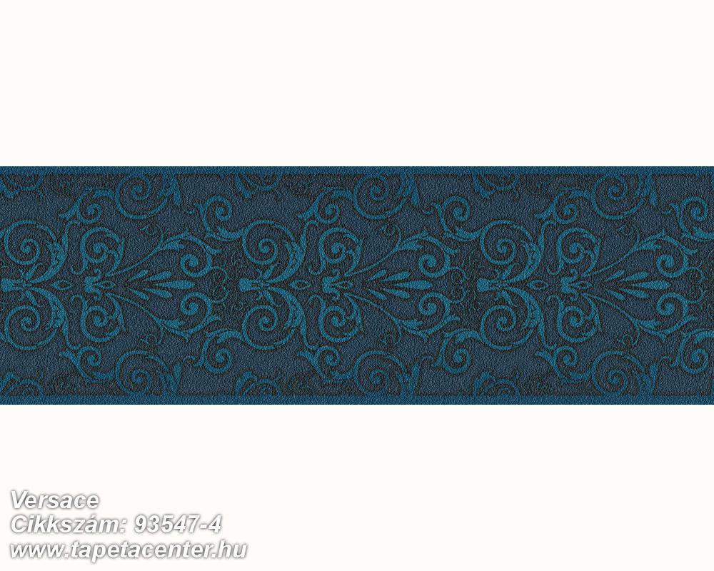 Barokk-klasszikus,fekete,kék,súrolható,vlies bordűr