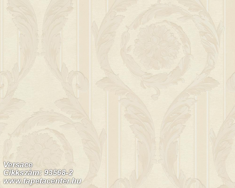 Csíkos,barokk-klasszikus,szürke,bézs-drapp,vajszín,súrolható,vlies tapéta
