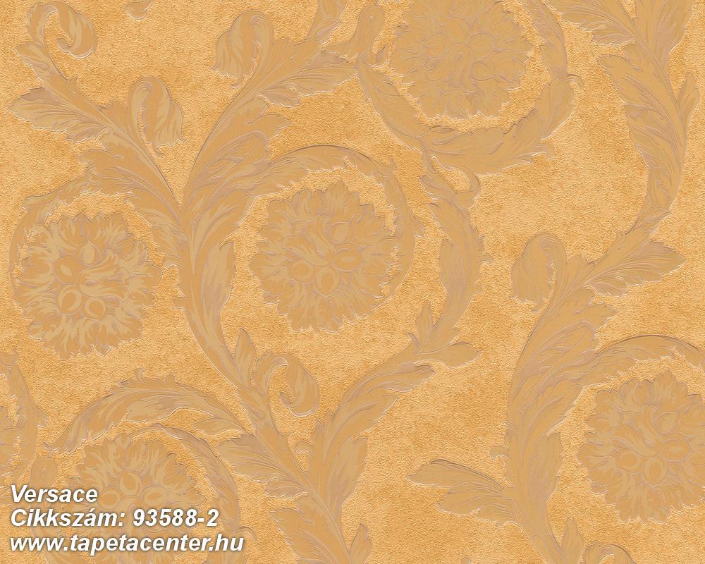 Barokk-klasszikus,barna,arany,súrolható,vlies tapéta
