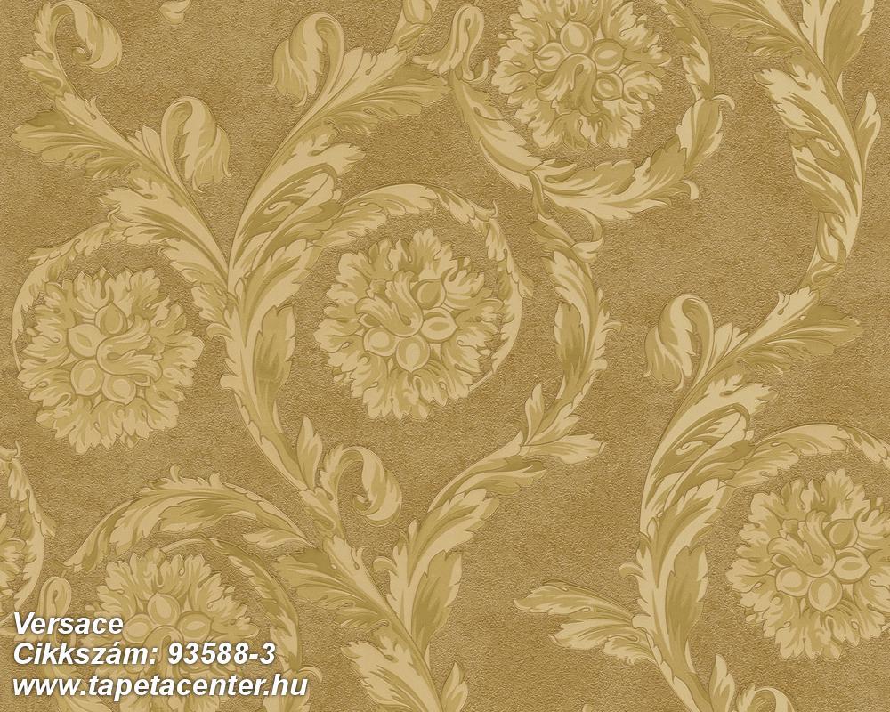 Barokk-klasszikus,bézs-drapp,arany,súrolható,vlies tapéta
