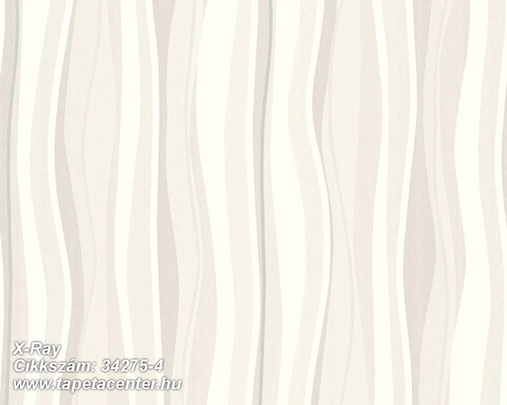 Absztrakt,csíkos,különleges felületű,retro,textil hatású,bézs-drapp,fehér,szürke,súrolható,vlies tapéta