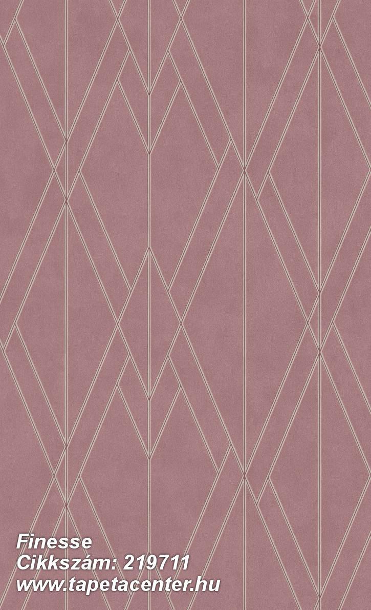 Absztrakt,geometriai mintás,különleges felületű,gyöngyház,piros-bordó,lemosható,vlies tapéta