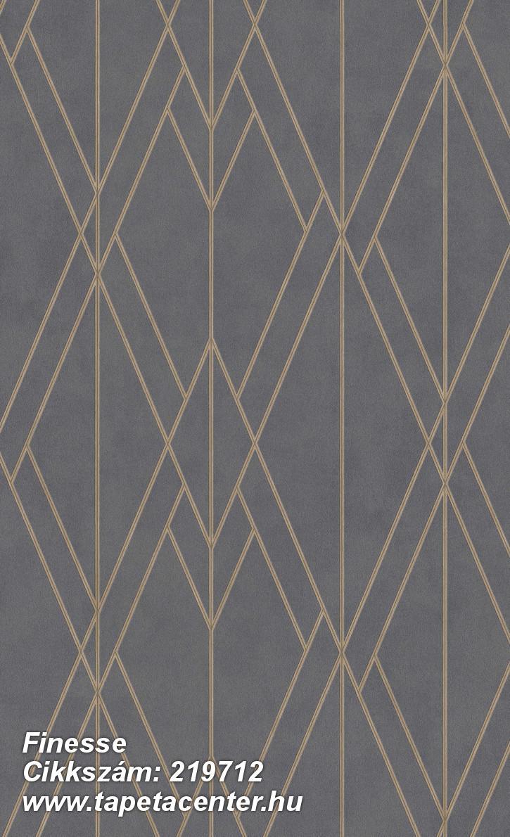 Absztrakt,geometriai mintás,különleges felületű,bronz,szürke,lemosható,vlies tapéta