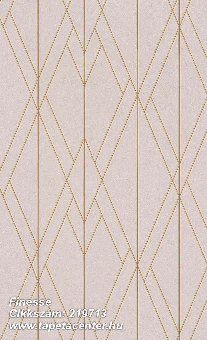Absztrakt,geometriai mintás,különleges felületű,arany,pink-rózsaszín,lemosható,vlies tapéta