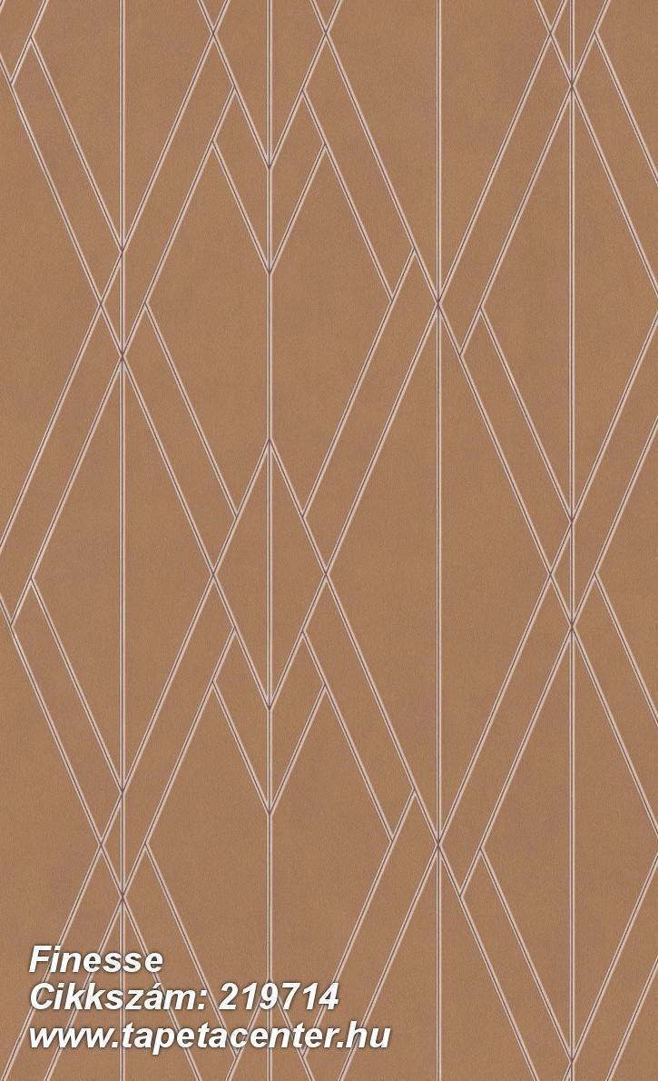 Absztrakt,geometriai mintás,különleges felületű,barna,gyöngyház,piros-bordó,lemosható,vlies tapéta