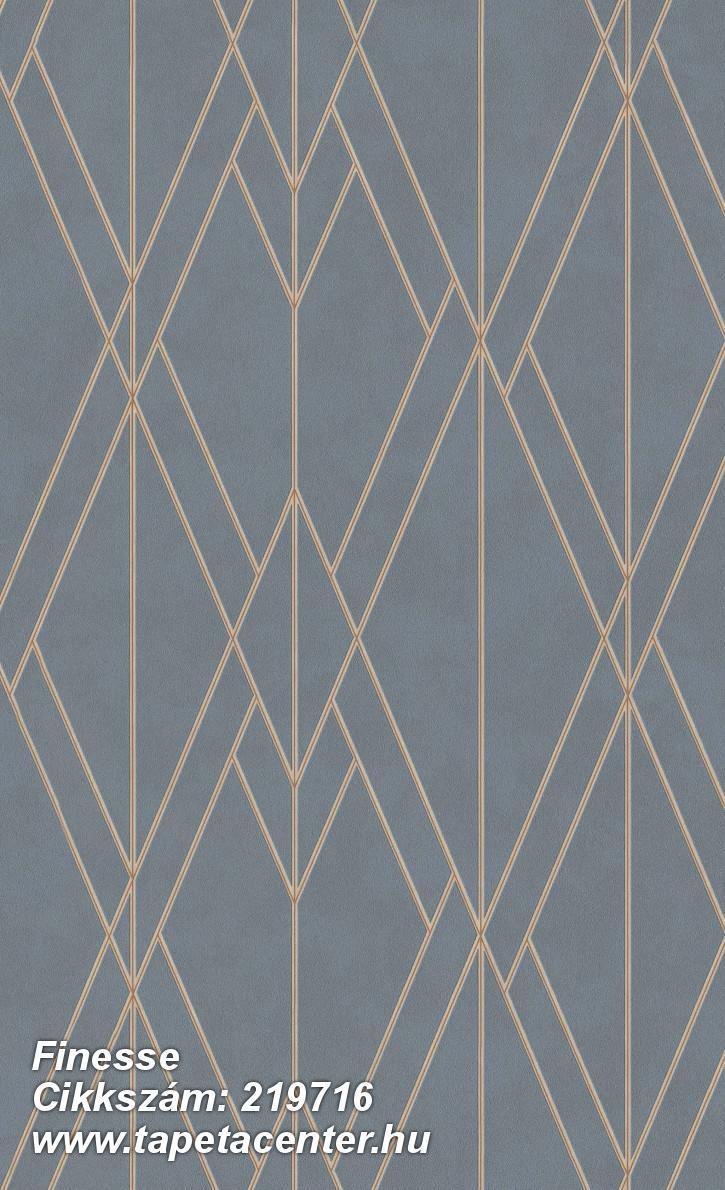 Absztrakt,geometriai mintás,különleges felületű,kék,narancs-terrakotta,lemosható,vlies tapéta