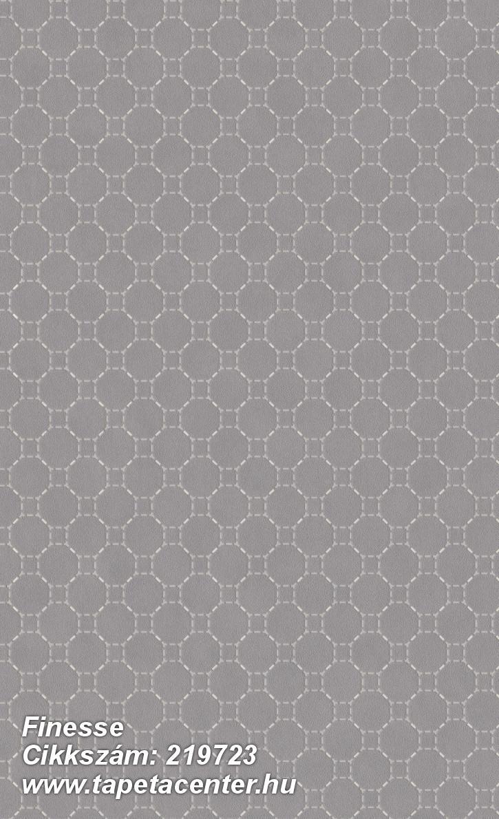 Absztrakt,geometriai mintás,különleges felületű,ezüst,szürke,lemosható,vlies tapéta