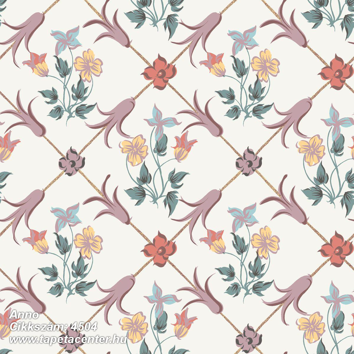 Különleges motívumos,rajzolt,virágmintás,barokk-klasszikus,fehér,narancs-terrakotta,pink-rózsaszín,sárga,lemosható,vlies tapéta