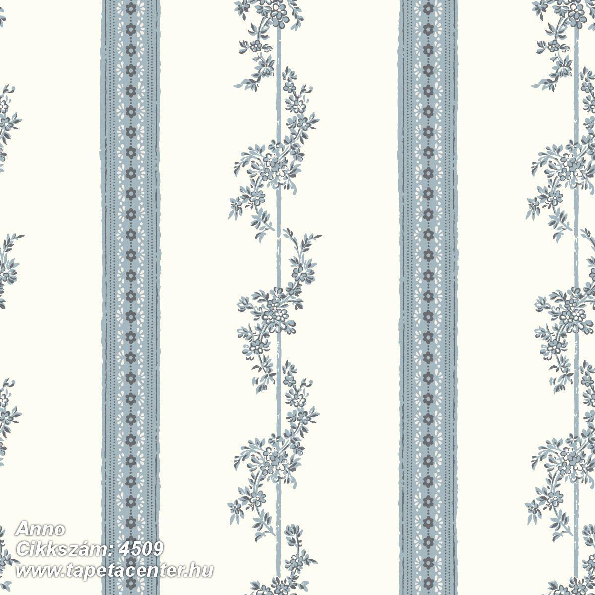Barokk-klasszikus,csíkos,különleges motívumos,rajzolt,retro,virágmintás,fehér,kék,lemosható,vlies tapéta