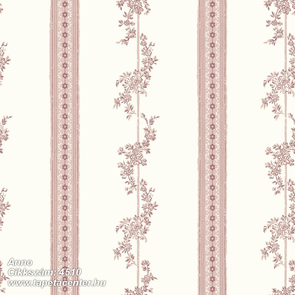 Barokk-klasszikus,különleges motívumos,rajzolt,retro,virágmintás,fehér,narancs-terrakotta,lemosható,vlies tapéta