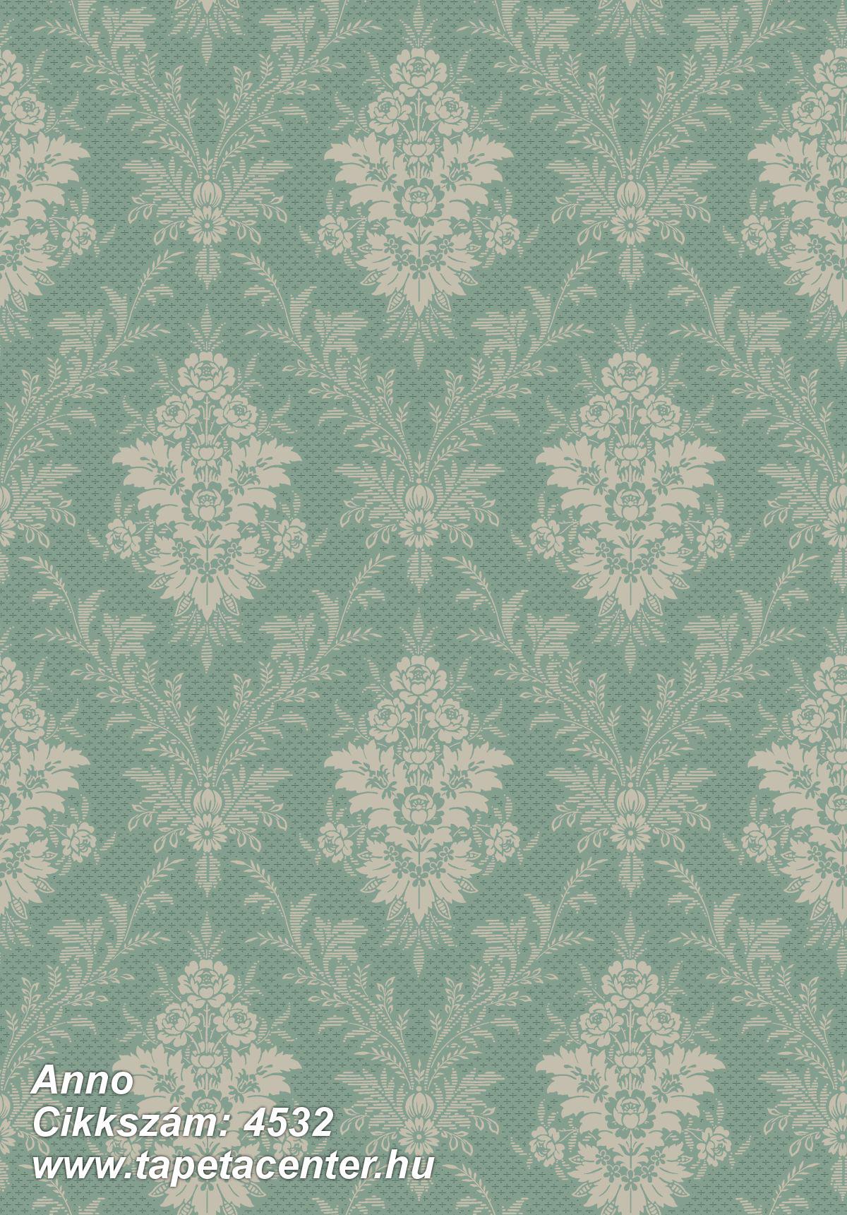 Barokk-klasszikus,bézs-drapp,vajszín,zöld,lemosható,vlies tapéta