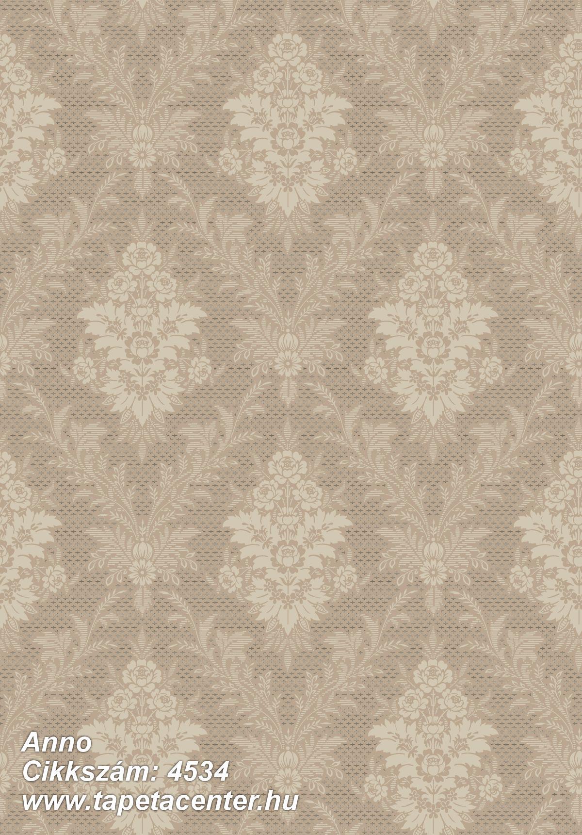 Barokk-klasszikus,bézs-drapp,bronz,vajszín,lemosható,vlies tapéta