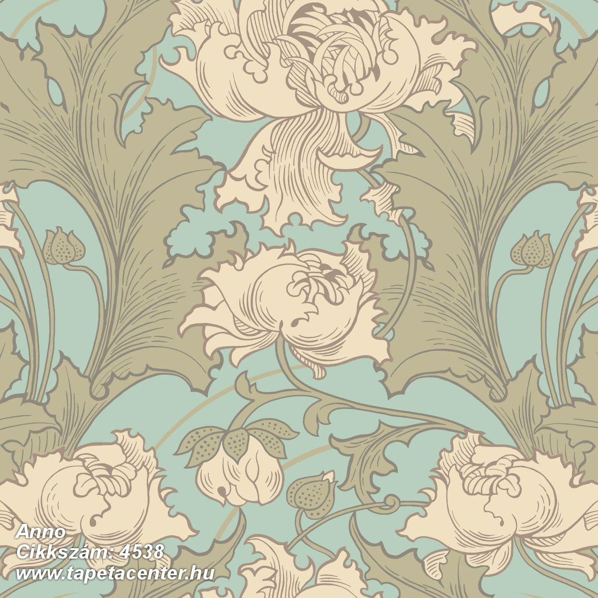 Barokk-klasszikus,virágmintás,bézs-drapp,bronz,kék,türkiz,lemosható,vlies tapéta